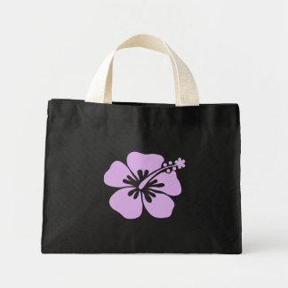 hibiscus aloha flower lavender mini tote bag