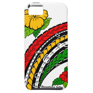 Hibiscus and Samoan island style design. Case For The iPhone 5