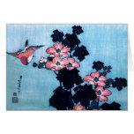 Hibiscus and Sparrow, Hokusai