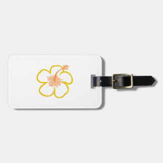 hibiscus applique tags for bags