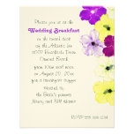 Hibiscus Art Border Wedding Breakfast Invitation