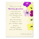 Hibiscus Art Border Wedding Breakfast Invitation 11 Cm X 14 Cm Invitation Card
