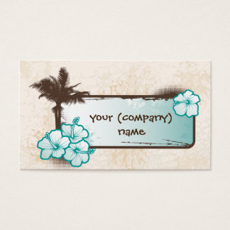 Hibiscus Banner Business Card