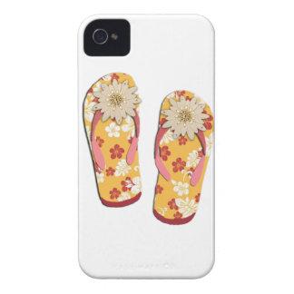 Hibiscus Beaded Flip Flop iPhone 4 Case-Mate Case