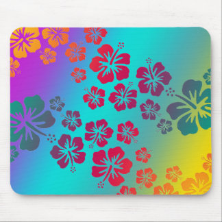 hibiscus blooms 2 | coloured background mouse pad