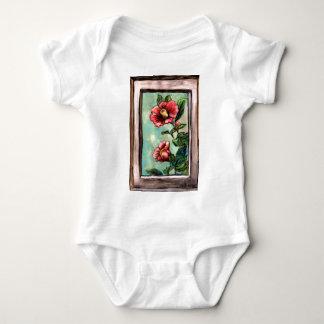 hibiscus china rose baby bodysuit