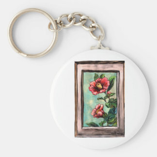 hibiscus china rose key ring