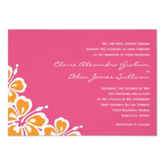 Hibiscus Delight Wedding Invitation - Azalea -