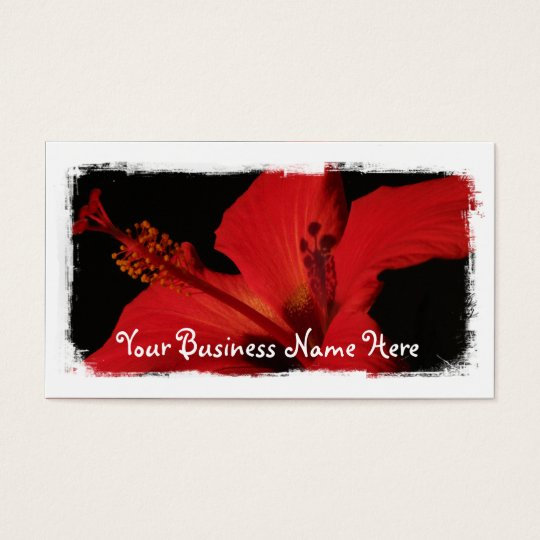 Hibiscus Detail Business Card
