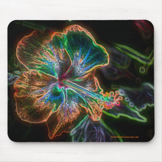 Hibiscus Digital Art Flower Photo Mousepad