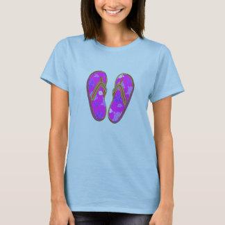 hibiscus filp flops T-Shirt