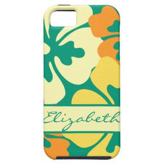 Hibiscus Floral Pattern Monogram iPhone 5 Cover