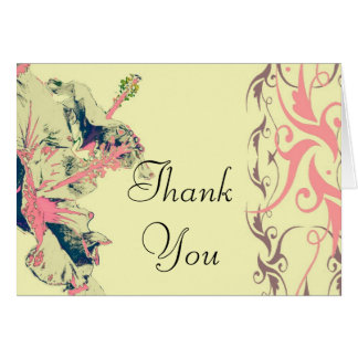 Hibiscus floral Thank You Card