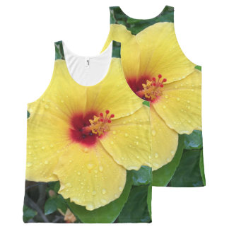 Hibiscus Flower All-Over Print Tank Top