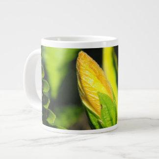 Hibiscus Flower Bud 20 Oz Large Ceramic Coffee Mug