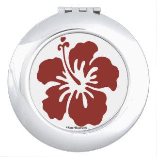 Hibiscus Flower Compact Mirror