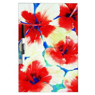Hibiscus Flower Dry-Erase Board