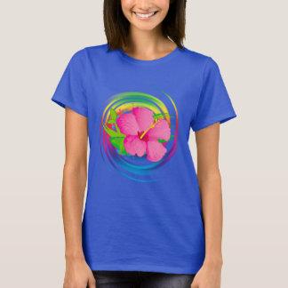 Hibiscus Flower in Design T-Shirt