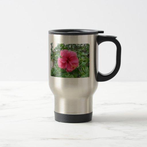 Hibiscus Flower in Red Pink Coffee Mug