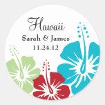 Hibiscus Flower Monogram Wedding