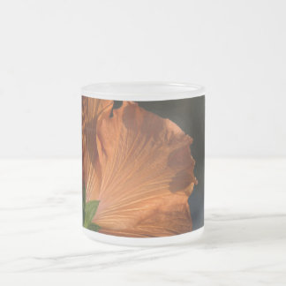 Hibiscus Flower Frosted Glass Mug