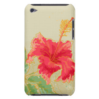 Hibiscus flower on toned background barely there iPod case