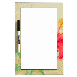 Hibiscus flower on toned background dry erase board