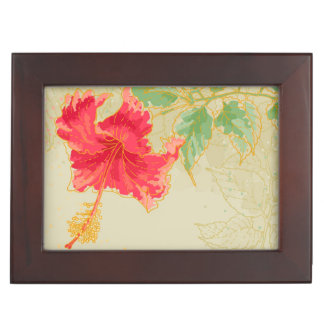 Hibiscus flower on toned background memory box