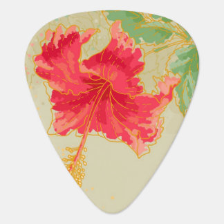 Hibiscus flower on toned background plectrum