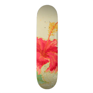 Hibiscus flower on toned background skate board decks