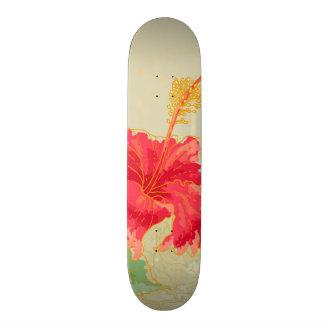 Hibiscus flower on toned background skate board decks