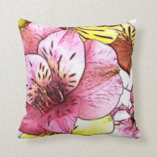Hibiscus Flower Pastel Throw Pillow