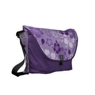 Hibiscus Flower Pattern Messenger Bag