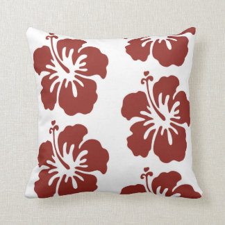 Hibiscus Flower Pattern Pillow Home Decor