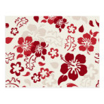 Hibiscus Flower Pattern Postcards
