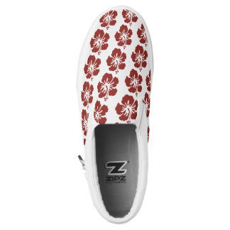 Hibiscus Flower Pattern Slip On Shoes
