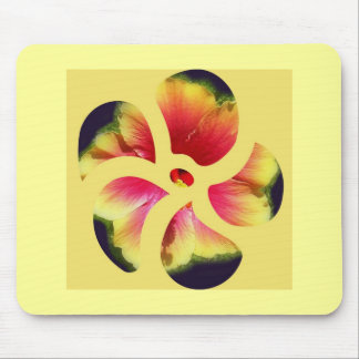 Hibiscus Flower Petals Mouse Pads