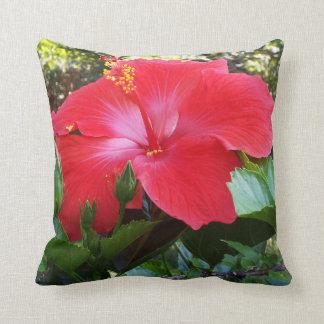 Hibiscus flower pillow