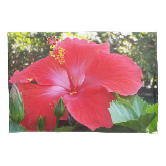 Hibiscus flower pillowcase