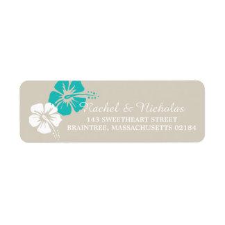 Hibiscus Flower | Return Address Return Address Label