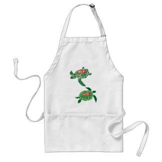 Hibiscus flower sea turtle apron