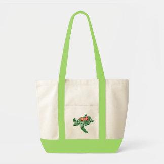 Hibiscus flower sea turtle bag