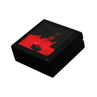 Hibiscus flower  Square Tile Gift Box