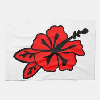 Hibiscus Flower Tea Towel