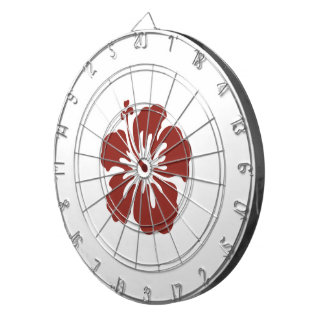 Hibiscus Flower Tropical Dart Board