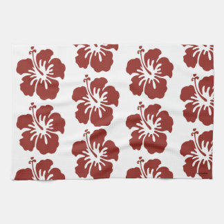 Hibiscus Flower Tropical Themed Hand Towel
