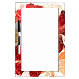 Hibiscus flower - watercolor paint 2 dry erase board