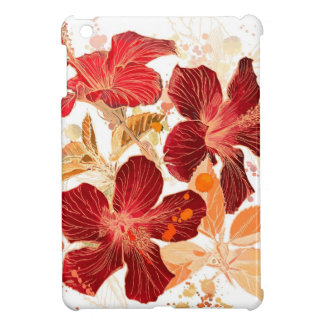Hibiscus flower - watercolor paint 2 iPad mini cover