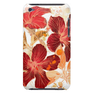 Hibiscus flower - watercolor paint 2 iPod touch covers
