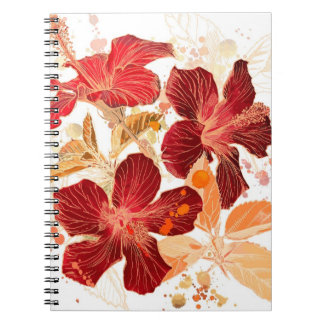 Hibiscus flower - watercolor paint 2 notebooks